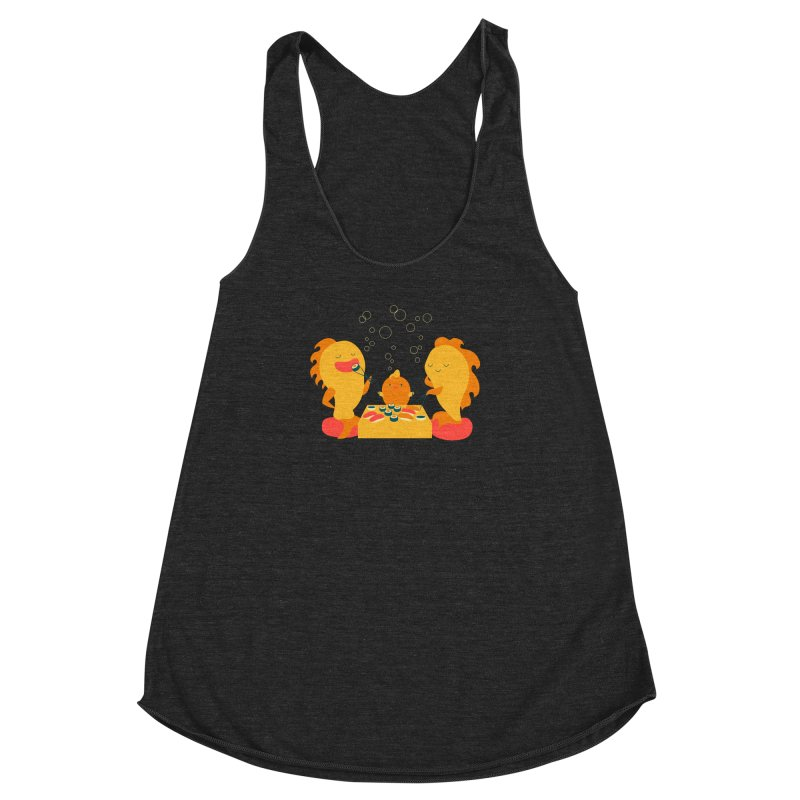 Sushi Lovers Women's Racerback Triblend Tank by Akaka