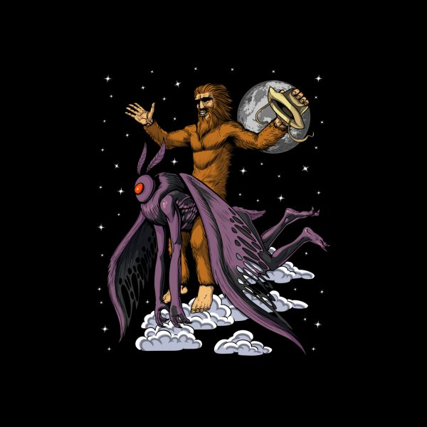 image for Bigfoot Riding Mothman