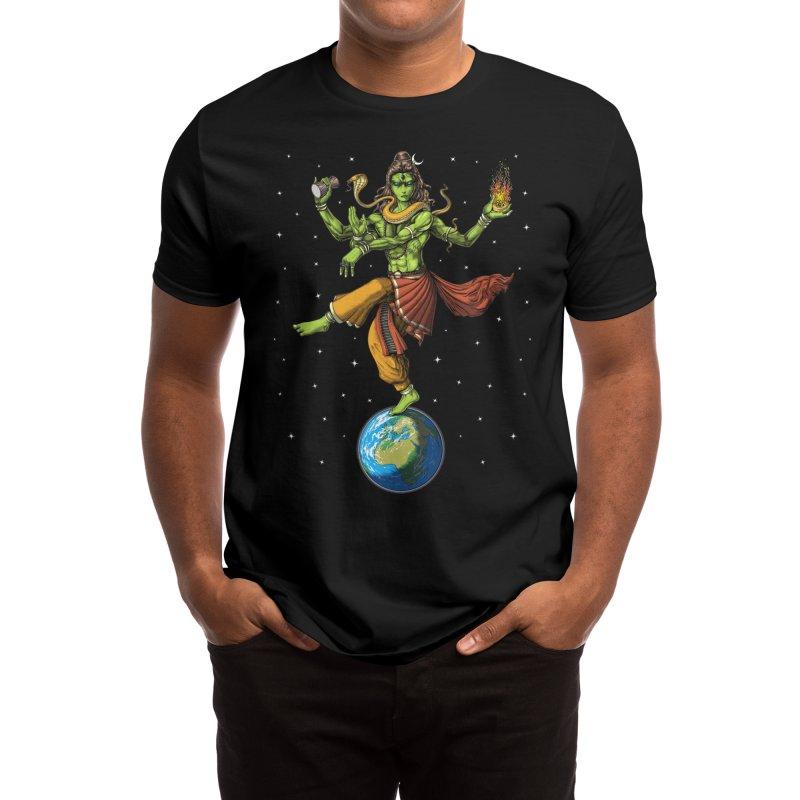 Alien Lord Shiva Men's T-Shirt by Akasha Shrine