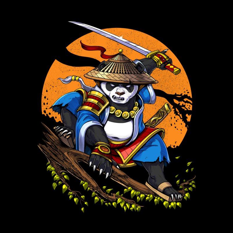 Panda Bear Ninja Samurai Men's T-Shirt by Akasha Shrine