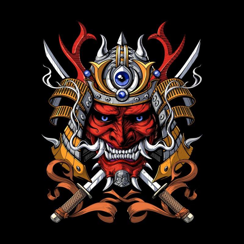 Japanese Demon Oni Samurai Men's T-Shirt by Akasha Shrine
