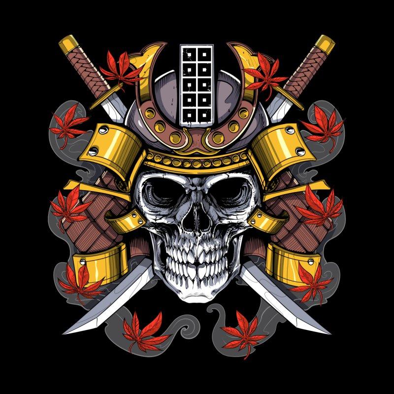Samurai Skull Men's T-Shirt by Akasha Shrine