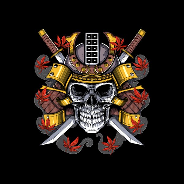 Design for Samurai Skull