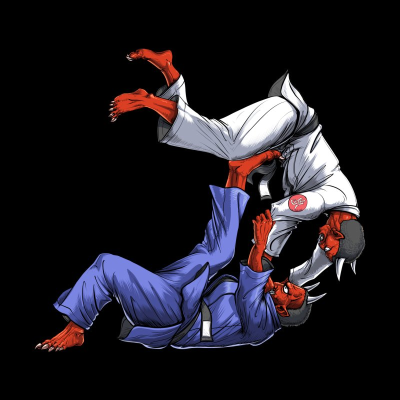 Jiu Jitsu Oni Demons Men's T-Shirt by Akasha Shrine