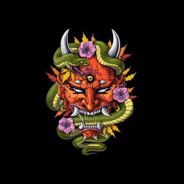 Design for Japanese Demon Oni Mask