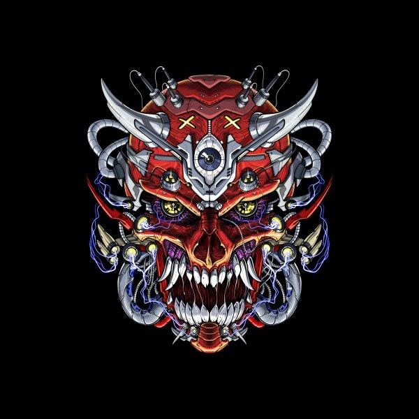 Design for Japanese Demon Skull Mask