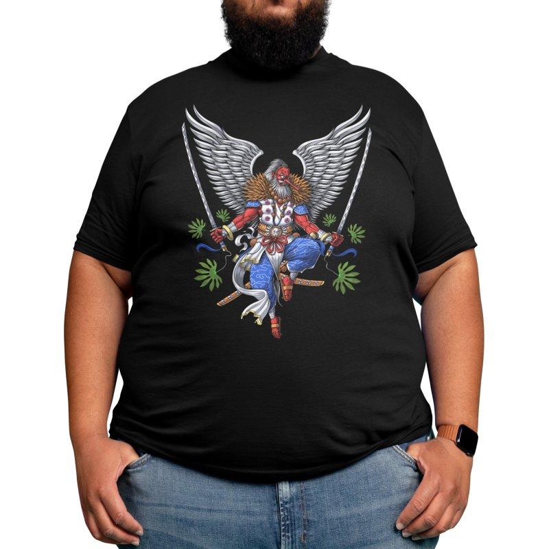 Tengu Japanese Samurai Men's T-Shirt by Akasha Shrine