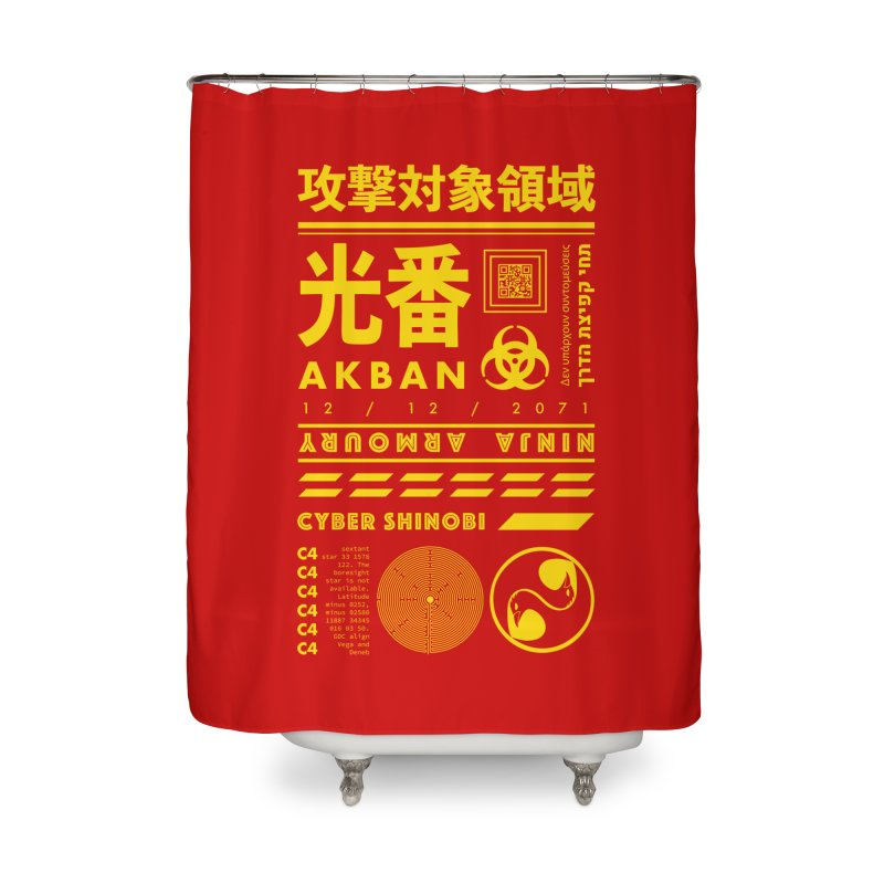 AKBAN Yellow Hazard Home Shower Curtain by AKBAN Core Official