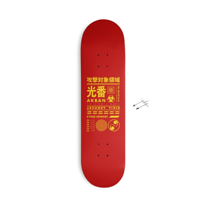AKBAN Yellow Hazard Accessories Skateboard by AKBAN Core Official