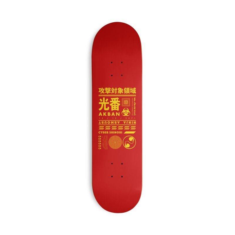 AKBAN Yellow Hazard Accessories Skateboard by AKBAN Core Official