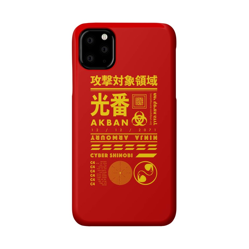 AKBAN Yellow Hazard Accessories Phone Case by AKBAN Core Official
