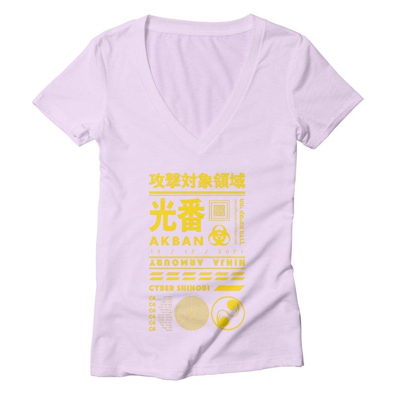 AKBAN Yellow Hazard Women's V-Neck by AKBAN Core Official