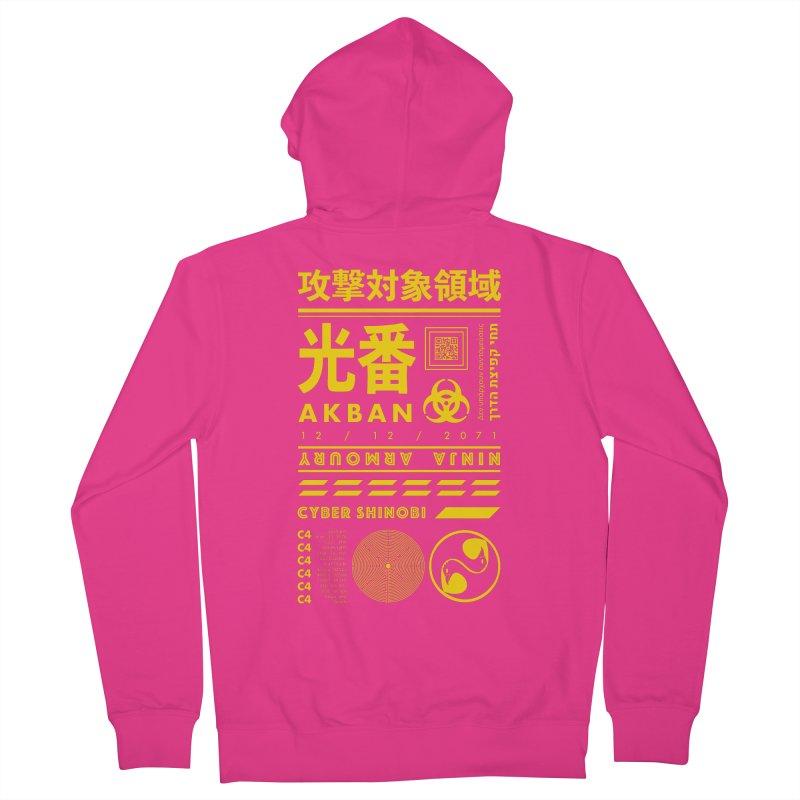 AKBAN Yellow Hazard Men's Zip-Up Hoody by AKBAN Core Official