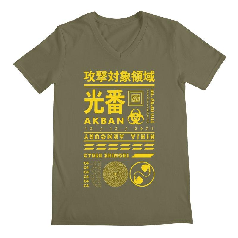 AKBAN Yellow Hazard Men's V-Neck by AKBAN Core Official