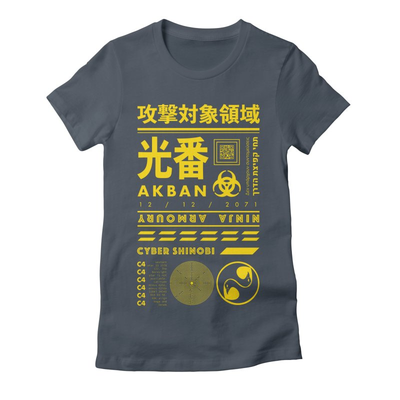 AKBAN Yellow Hazard Women's T-Shirt by AKBAN Core Official