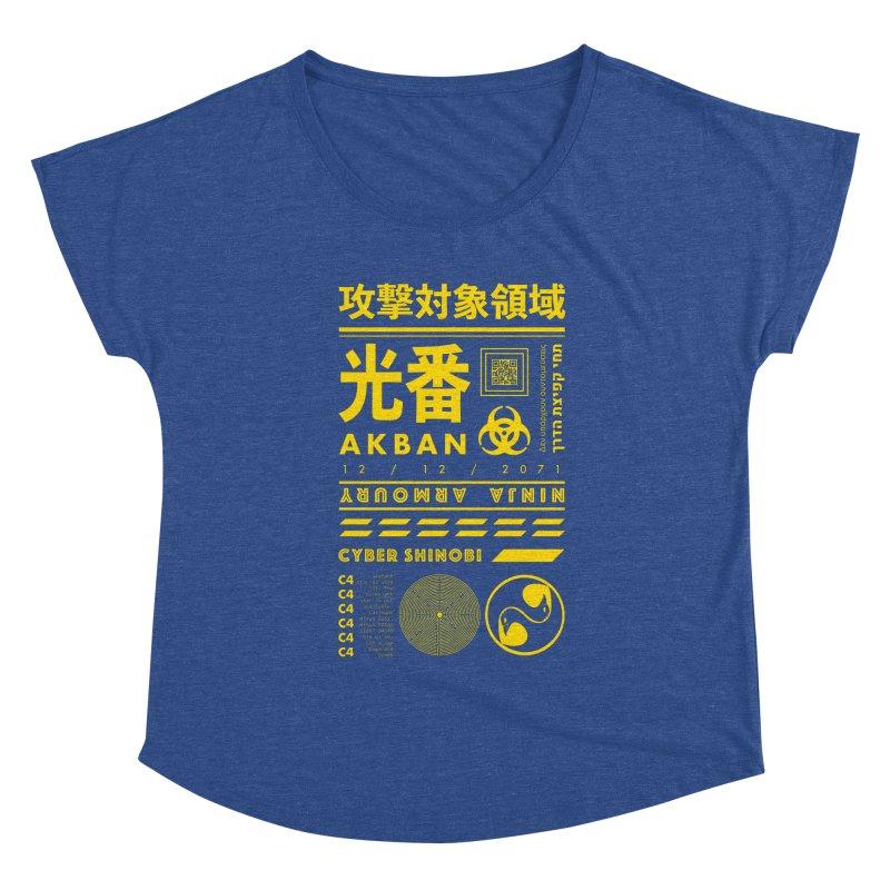AKBAN Yellow Hazard Women's Scoop Neck by AKBAN Core Official