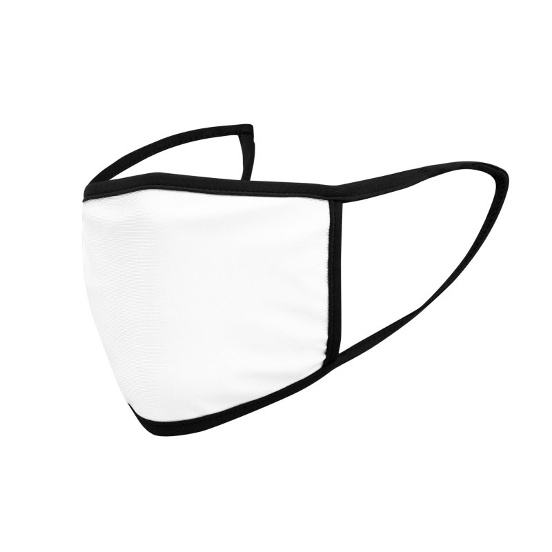 AKBAN White Cyberpunk hazard - Attack Surface Accessories Face Mask by AKBAN Core Official