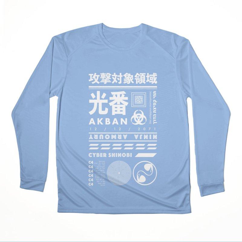 AKBAN White Cyberpunk hazard - Attack Surface Women's Longsleeve T-Shirt by AKBAN Core Official