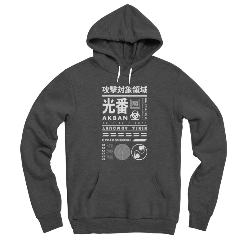AKBAN White Cyberpunk hazard - Attack Surface Men's Pullover Hoody by AKBAN Core Official