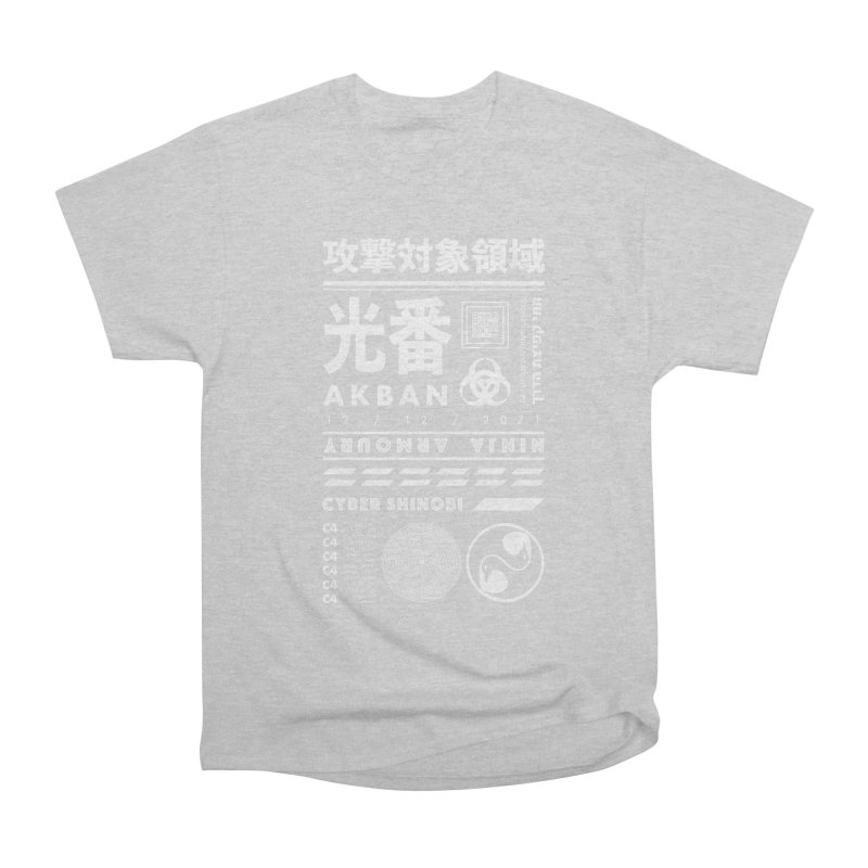 AKBAN White Cyberpunk hazard - Attack Surface Men's T-Shirt by AKBAN Core Official