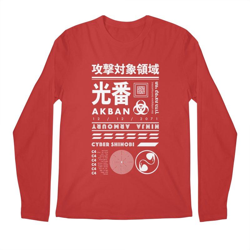 AKBAN White Cyberpunk hazard - Attack Surface Men's Longsleeve T-Shirt by AKBAN Core Official