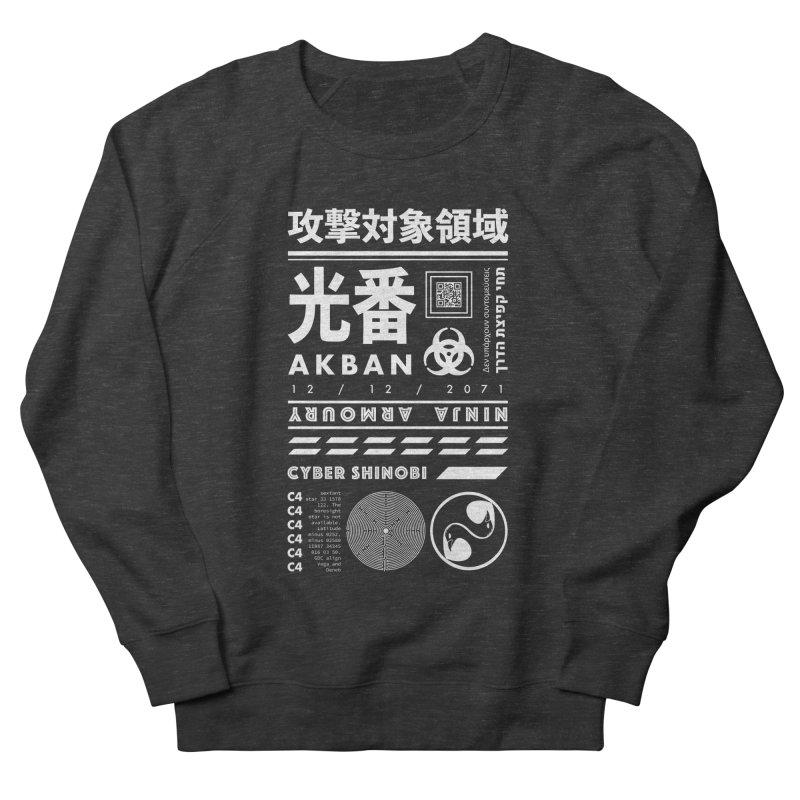 AKBAN White Cyberpunk hazard - Attack Surface Men's Sweatshirt by AKBAN Core Official