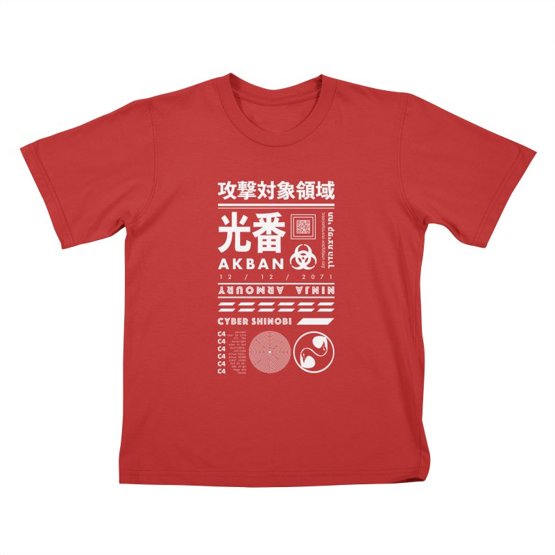 AKBAN White Cyberpunk hazard - Attack Surface Kids T-Shirt by AKBAN Core Official