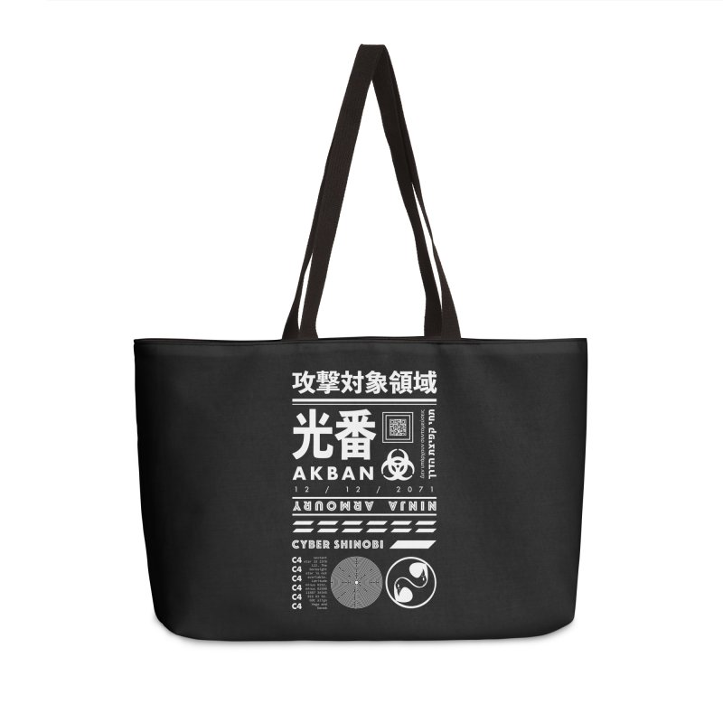 AKBAN White Cyberpunk hazard - Attack Surface Accessories Bag by AKBAN Core Official