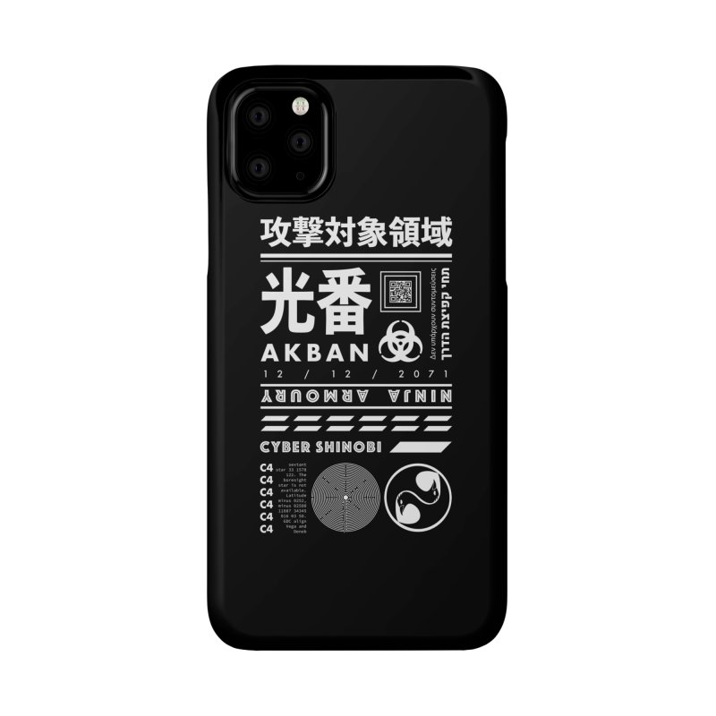 AKBAN White Cyberpunk hazard - Attack Surface Accessories Phone Case by AKBAN Core Official