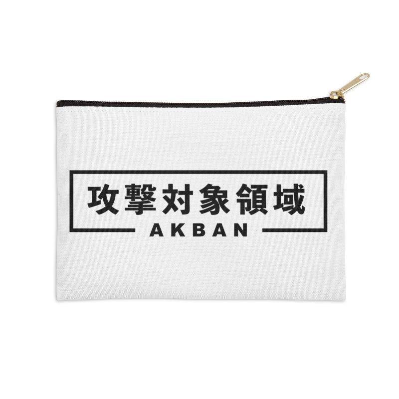 Attack surface AKBAN black Accessories Zip Pouch by AKBAN Core Official