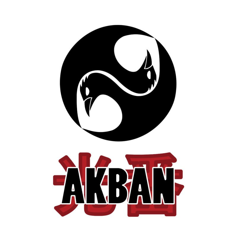 Huge AKBAN logo for big hearted warriors Home Stretched Canvas by AKBAN Core Official