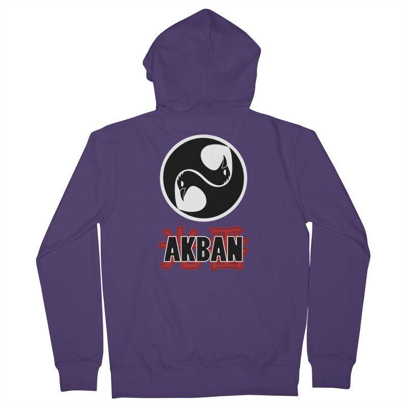 Huge AKBAN logo for big hearted warriors Women's Zip-Up Hoody by AKBAN Core Official