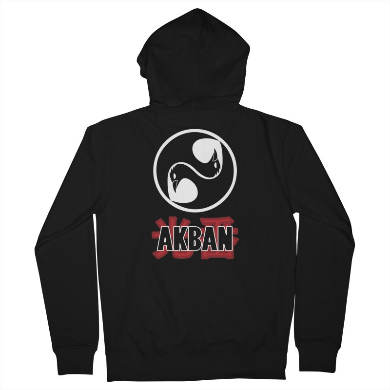 Huge AKBAN logo for big hearted warriors Men's Zip-Up Hoody by AKBAN Core Official