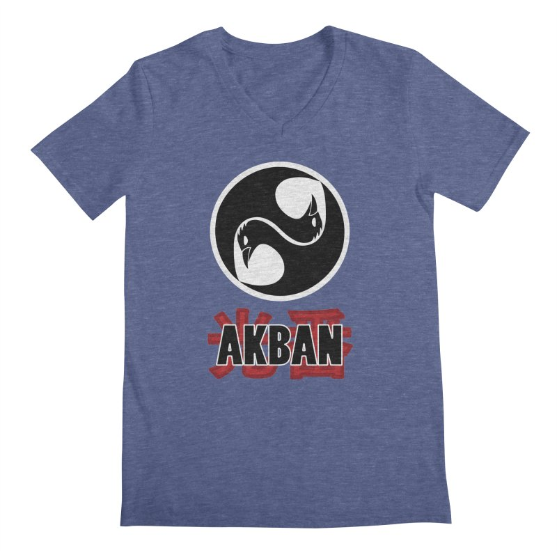 Huge AKBAN logo for big hearted warriors Men's V-Neck by AKBAN Core Official