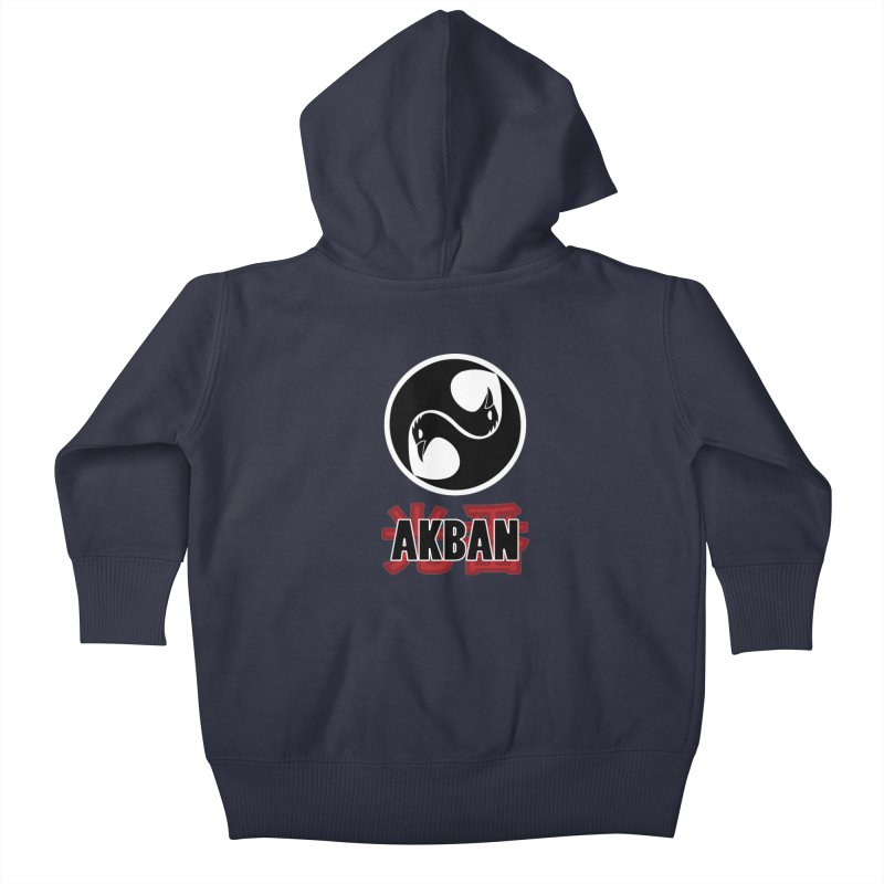 Huge AKBAN logo for big hearted warriors Kids Baby Zip-Up Hoody by AKBAN Core Official