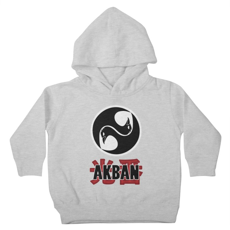 Huge AKBAN logo for big hearted warriors Kids Toddler Pullover Hoody by AKBAN Core Official