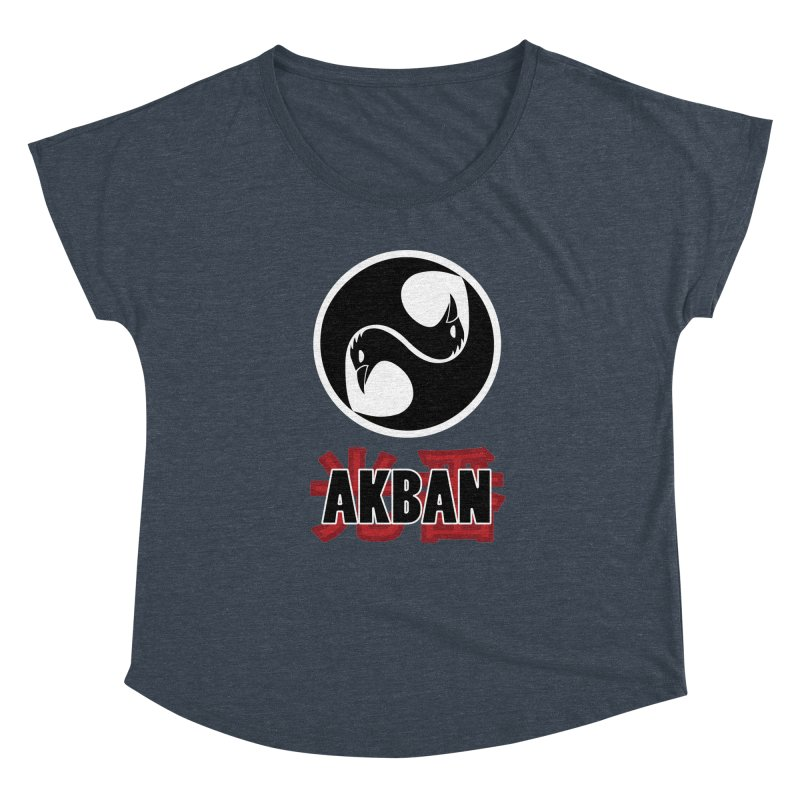 Huge AKBAN logo for big hearted warriors Women's Scoop Neck by AKBAN Core Official