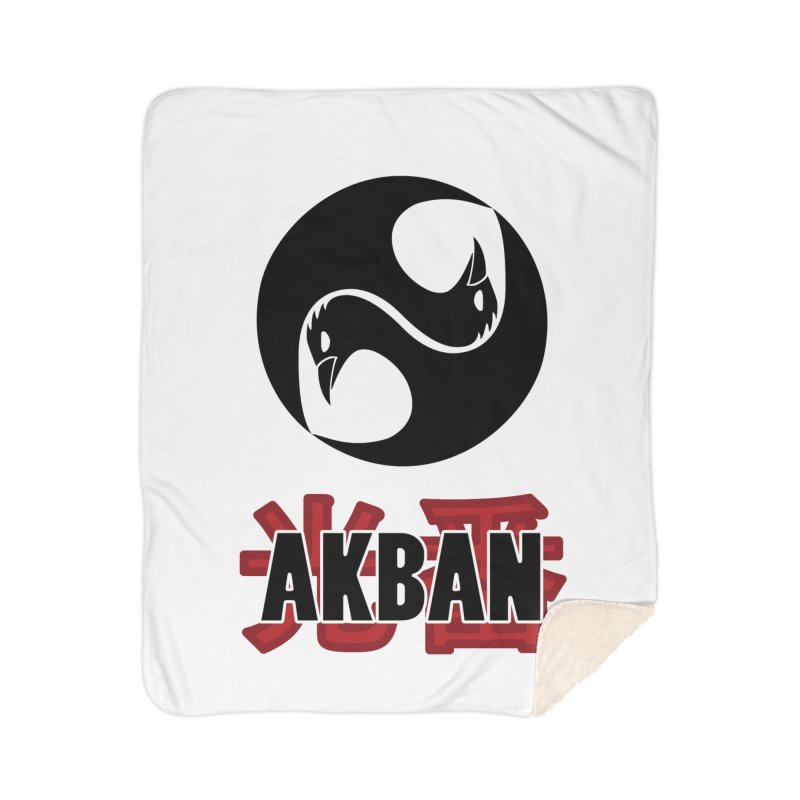 Huge AKBAN logo for big hearted warriors Home Blanket by AKBAN Core Official