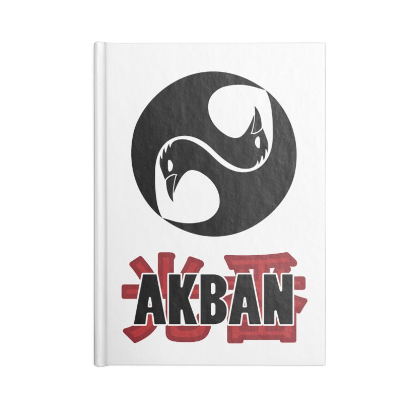 Huge AKBAN logo for big hearted warriors Accessories Notebook by AKBAN Core Official