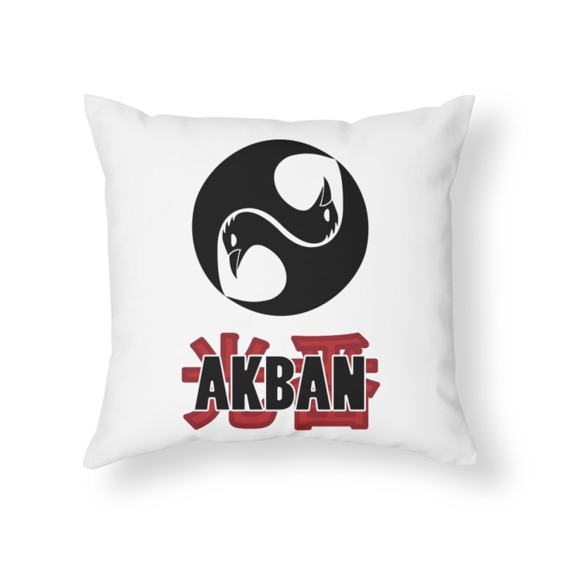 Huge AKBAN logo for big hearted warriors Home Throw Pillow by AKBAN Core Official