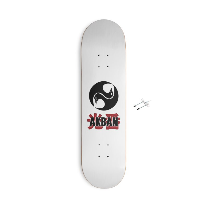 Huge AKBAN logo for big hearted warriors Accessories Skateboard by AKBAN Core Official