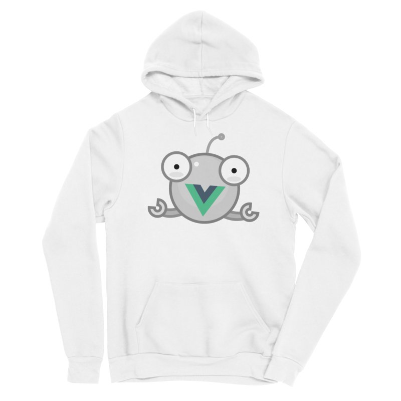 vue-bot Men's Sponge Fleece Pullover Hoody by Akryum's Shop