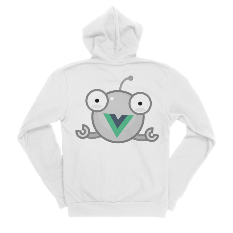 vue-bot Women's Sponge Fleece Zip-Up Hoody by Akryum's Shop