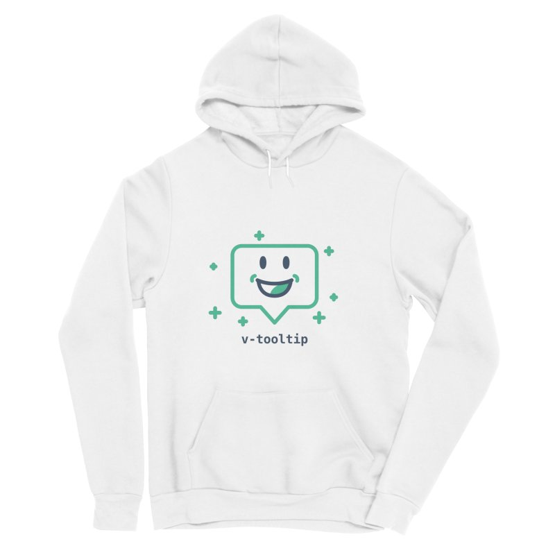 v-tooltip in Men's Sponge Fleece Pullover Hoody White by Akryum's Shop