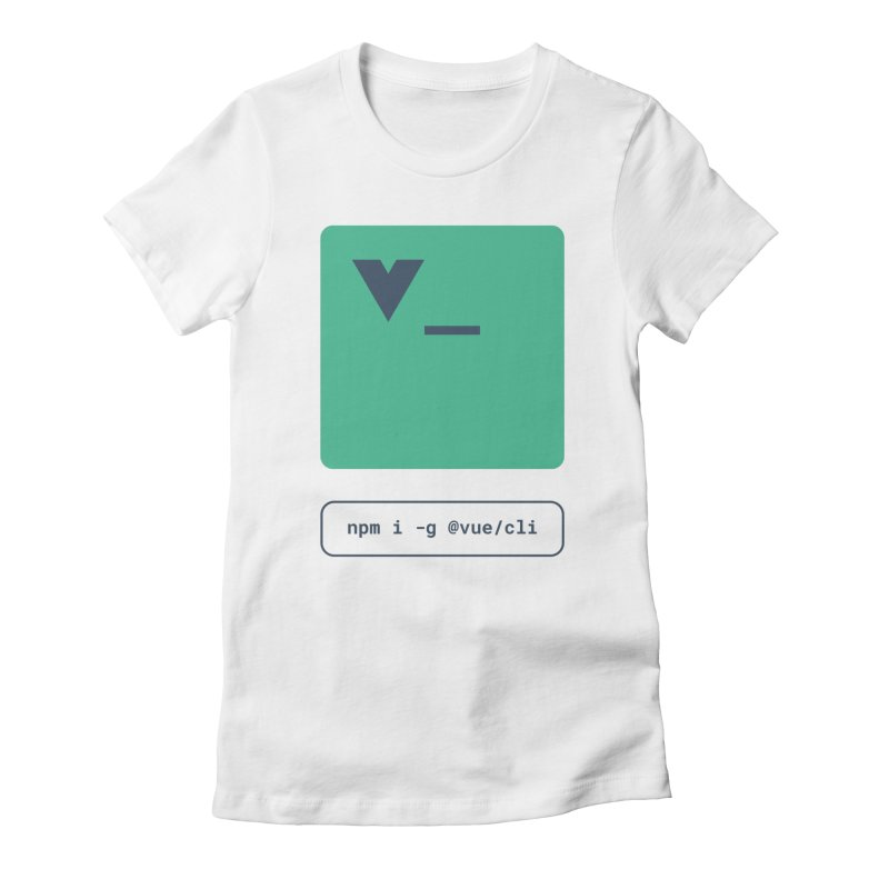 vue-cli Women's Fitted T-Shirt by Akryum's Shop