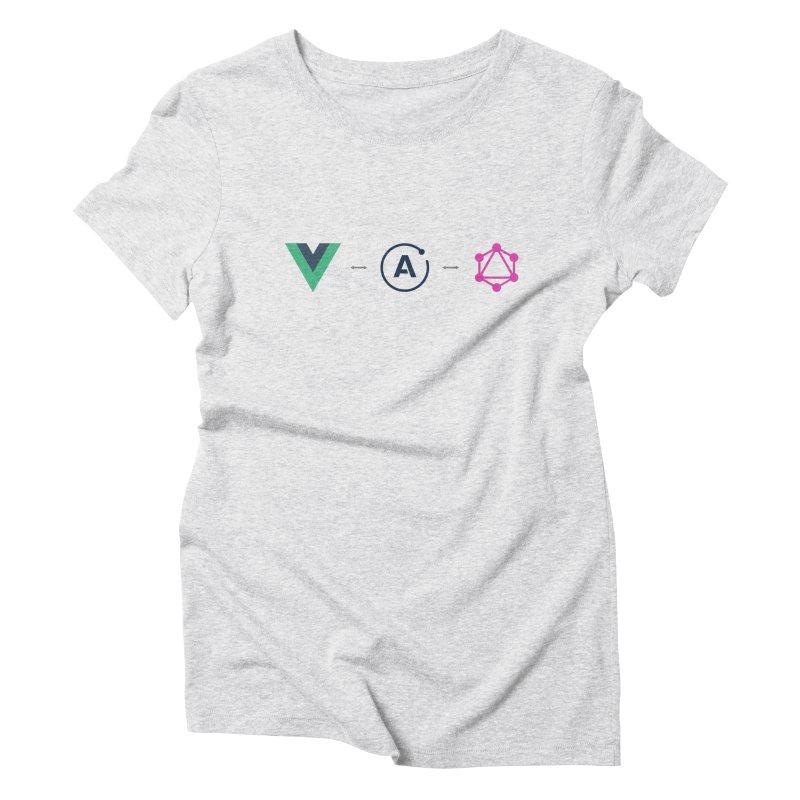 Vue, Apollo, GraphQL Women's Triblend T-Shirt by Akryum's Shop