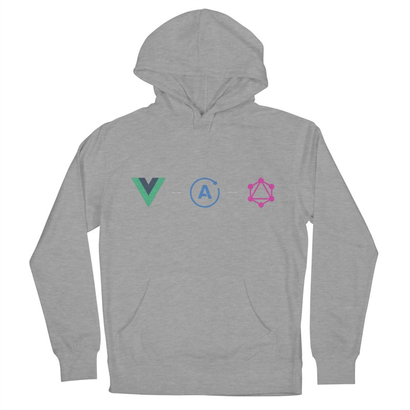 Vue, Apollo, GraphQL (Dark) Men's French Terry Pullover Hoody by Akryum's Shop