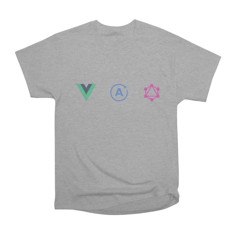 Vue, Apollo, GraphQL (Dark) Men's Heavyweight T-Shirt by Akryum's Shop