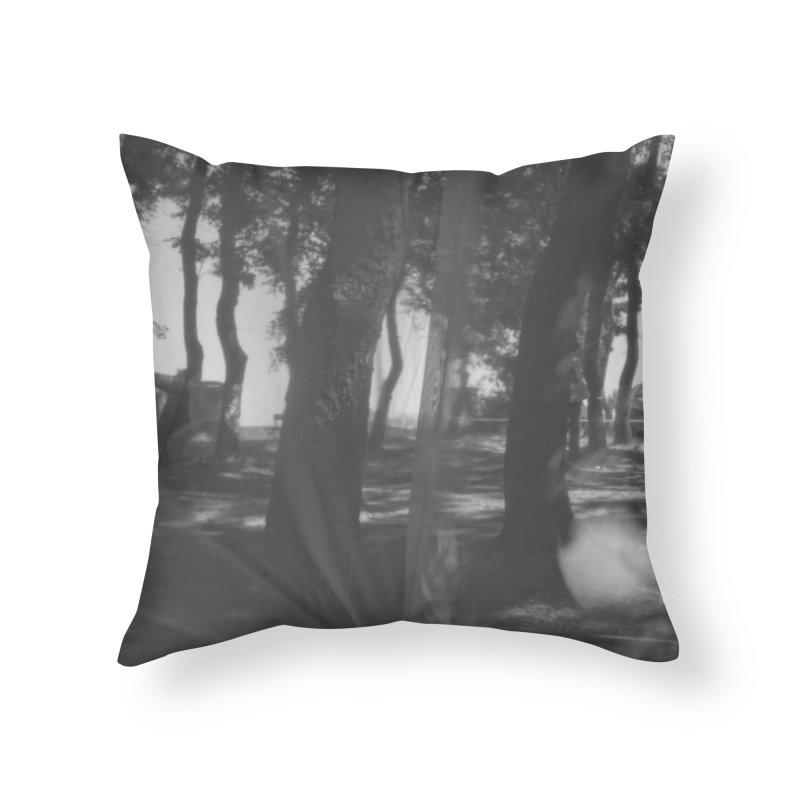 The Woods Home Throw Pillow by akwaflorell's Artist Shop