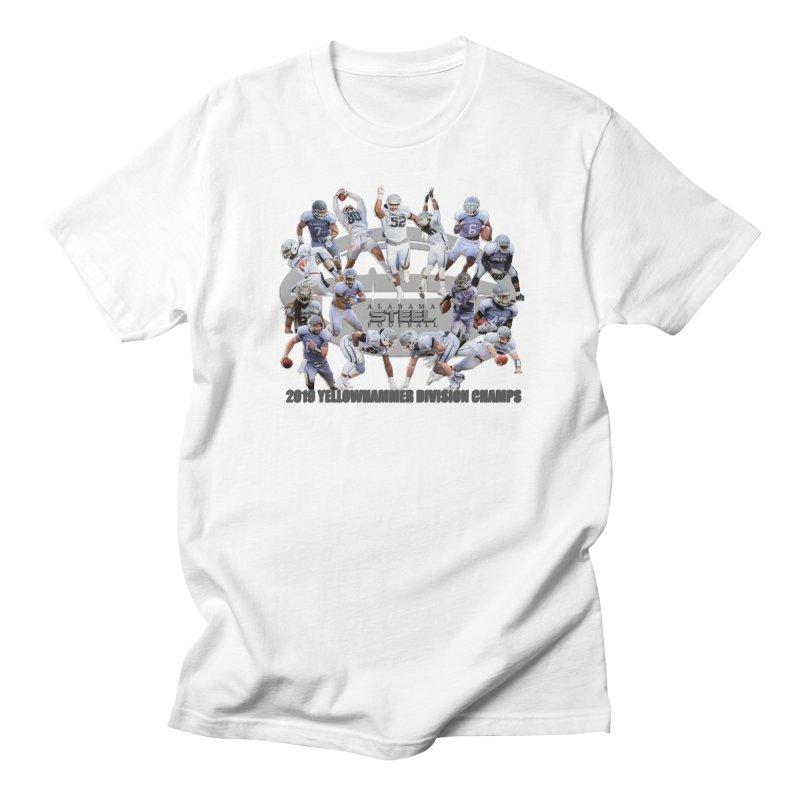 2019 IAFL YELLOWHAMMER DIVISION CHAMPS Men's T-Shirt by ALABAMA STEEL SEMI PRO FOOTBALL CUSTOM GEAR